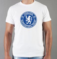 Футболка с принтом FC Chelsea (ФК Челси) белая 008