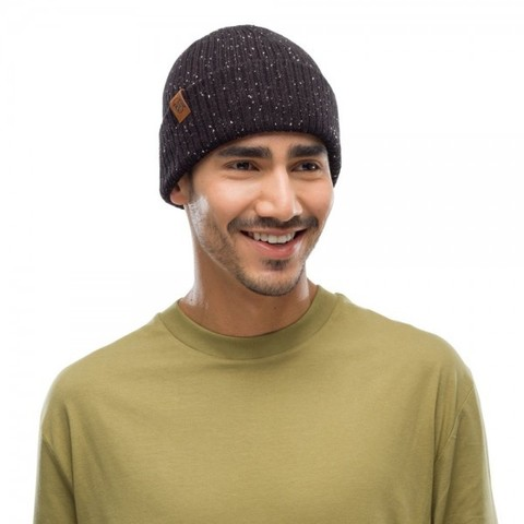 Вязаная шапка Buff Hat Knitted Kort Black фото 2
