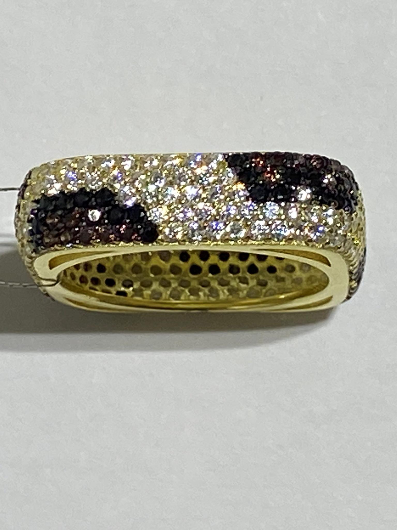Леопард (кольцо из серебра)