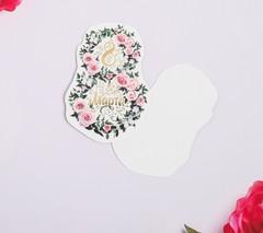 Открытка поздравительная «8 Марта!» розовые розы и белый фон, тиснение, 8 × 9 см, 5 шт, 1 уп.