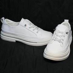 Кроссовки туфли женские на низком каблуке  El Passo sy9002-2 Sport White.