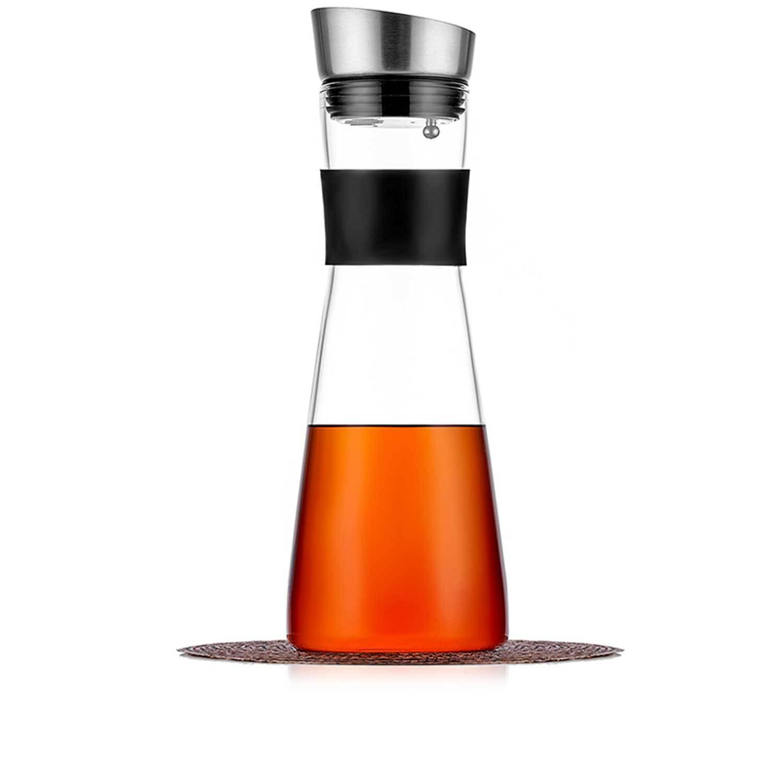 Чайники заварочные стеклянные Кувшин 1,5 л стеклянный для воды, сока и других напитков, с крышкой фильтром и резиновой манжетой Kuvshin-dlia-soka-i-kokteiley-4-014-1500-teastar.jpg