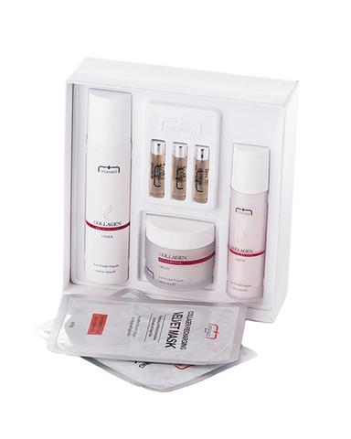 Набор проф.косметики Collagen Recharging Set (Тоник120мл, сыворотка40мл, крем50мл, ампулы3шт.*2,5мл)