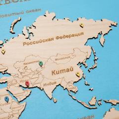 Карта путешественника из дерева Blue фото 5