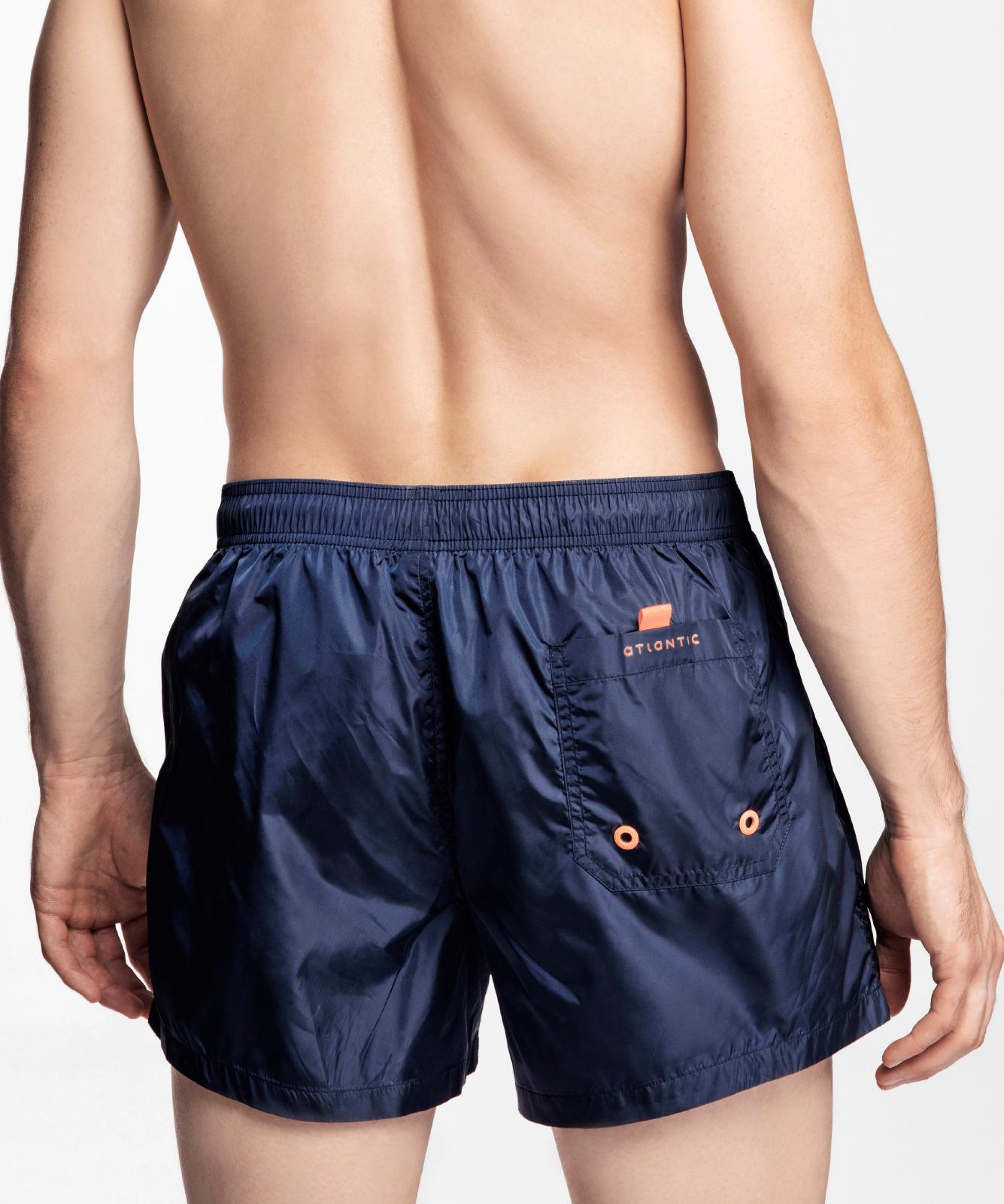 Пляжные шорты мужские Atlantic, 1 шт. в уп., полиэстер, темно-синие, KMB-188