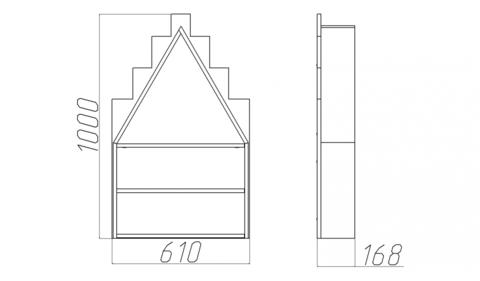 Полка-домик размеры