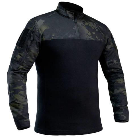 Рубашка тактическая боевая «Гюрза-М1» Черный мультикам