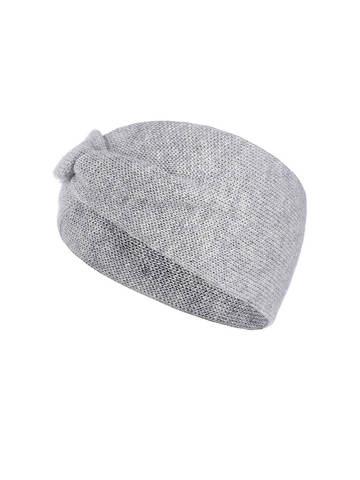 Женская повязка на голову цвета серый меланж из кашемира - фото 1