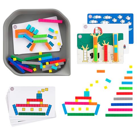 Набор  FunPlay счетные палочки с карточками