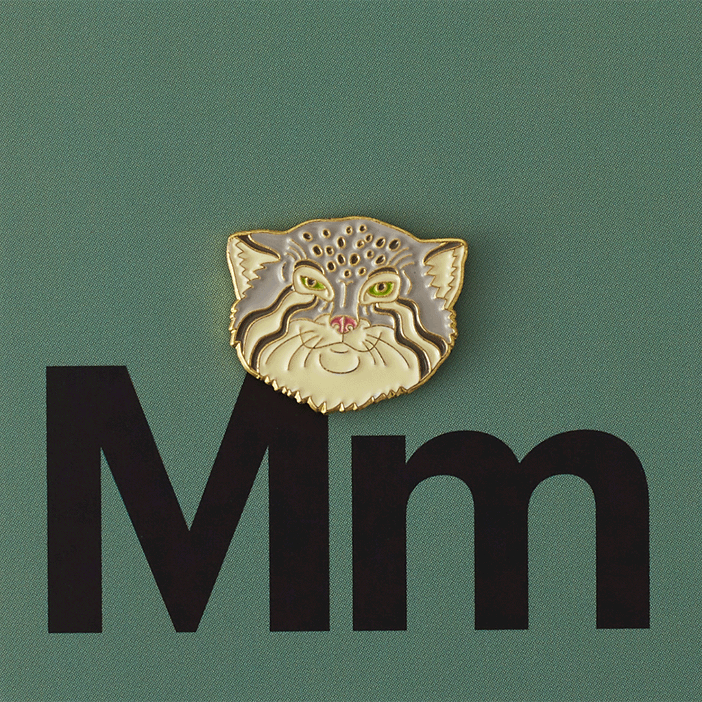 Значок металлический Зоопарк: Манул