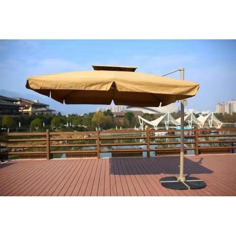 Зонт для кафе AFM-250SDB-Dark Beige (2,5x2,5) МРК