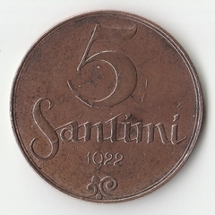 1922 год 5 сантим P1093