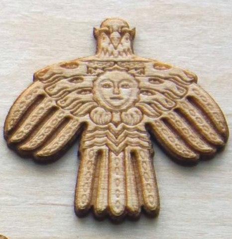 Магнит ДекорКоми на холодильник из дерева Герб Республики Коми (малый)