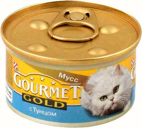 Gourmet Паштет Gourmet Gold с тунцом для кошек 85 г