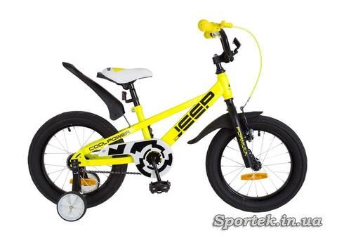Велосипед Formula Jeep для детей ростом 100-115 см (колеса 16 дюймов, 2 дополнительных боковых колеса)