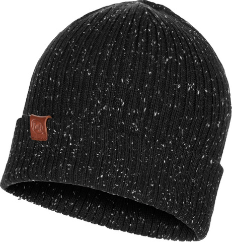 Вязаная шапка Buff Hat Knitted Kort Black фото 1