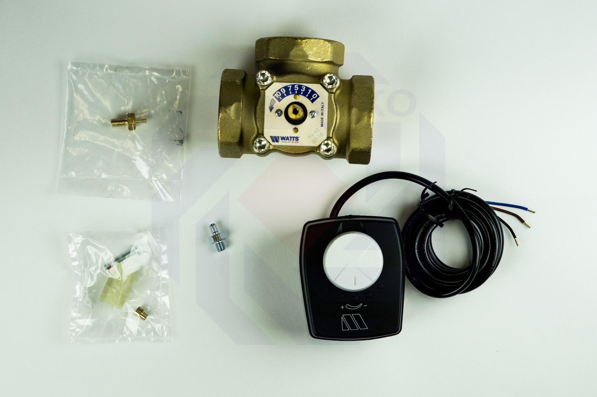 Клапан поворотный трехходовой с электроприводом WATTS V3GB 2