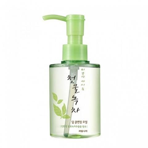 WELCOS Green Tea масло очищающее Green Tea Deep Cleansing Oil 170 мл