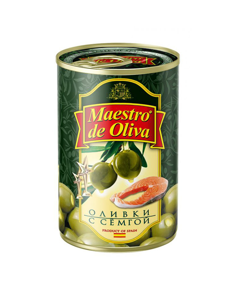 Оливки Maestro de Oliva с семгой 300 гр.