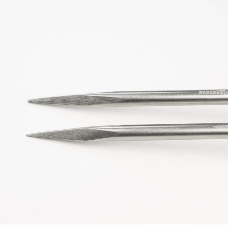Малая прополочная вилка Sneeboer 2 зубца  вишневая рукоятка