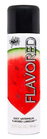 Лубрикант Wet Flavored Juicy Watermelon с ароматом арбуза - 89 мл.