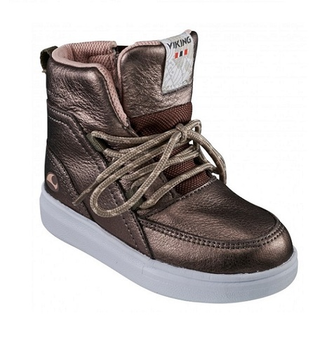 Полуботинки Viking Smilla Mid WP Metallic/Brown демисезонные