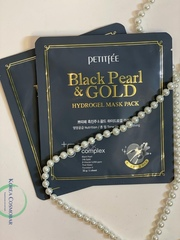 Petitfee Маска для лица гидрогелевая жемчуг/золото - Black pearl&gold hydrogel mask pack, 32г