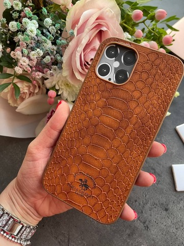 Чехол iPhone 12 Pro Max /6,7''/ Polo Knight Case /brown/