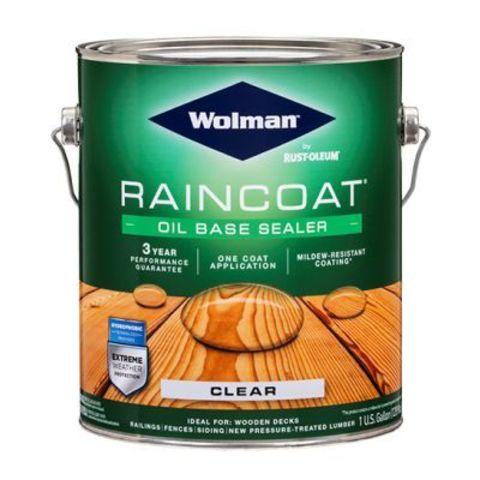 Wolman RainCoat One Coat Clear Sealer пропитка водоотталкивающая прозрачная