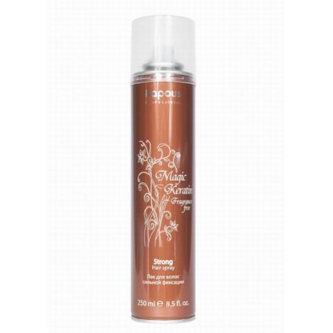 Лак аэрозольный для волос сильной фиксации с кератином,Kapous Magic Keratin,250 мл.