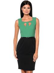 WD2421V-2 платье женское, зеленое