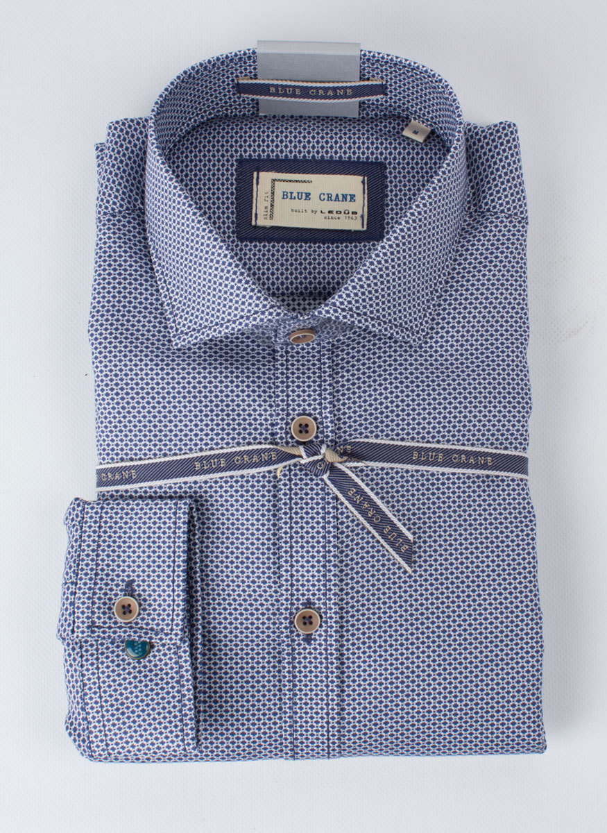 Рубашка Blue Crane slim fit 0136070-190-000-SF-Blue