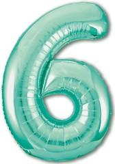 Р Цифра, 6, Slim, Бискайский зеленый, 40''/102 см, в упаковке 1 шт.