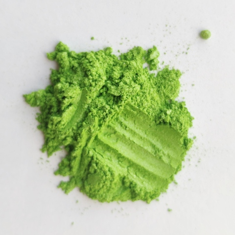Пигмент для слайма перламутровый зеленое яблоко 20 мл