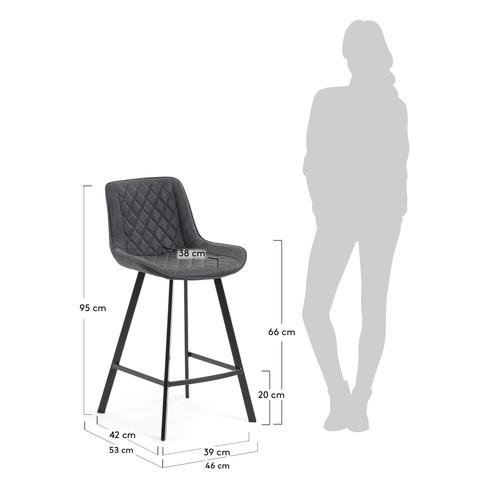Полубарный стул Arian графитовый
