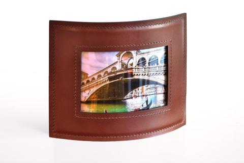 Рамка для фотографий PREMIUM из кожи Full Grain Toscana/Cuoietto шоколад