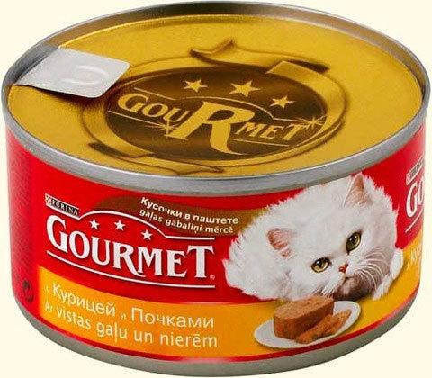 Gourmet Паштет с курицей и почками для кошек 85 г