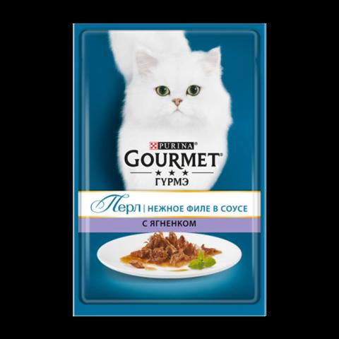 Gourmet Perle Консервы для кошек Нежное филе с Ягненком в соусе (Пауч)