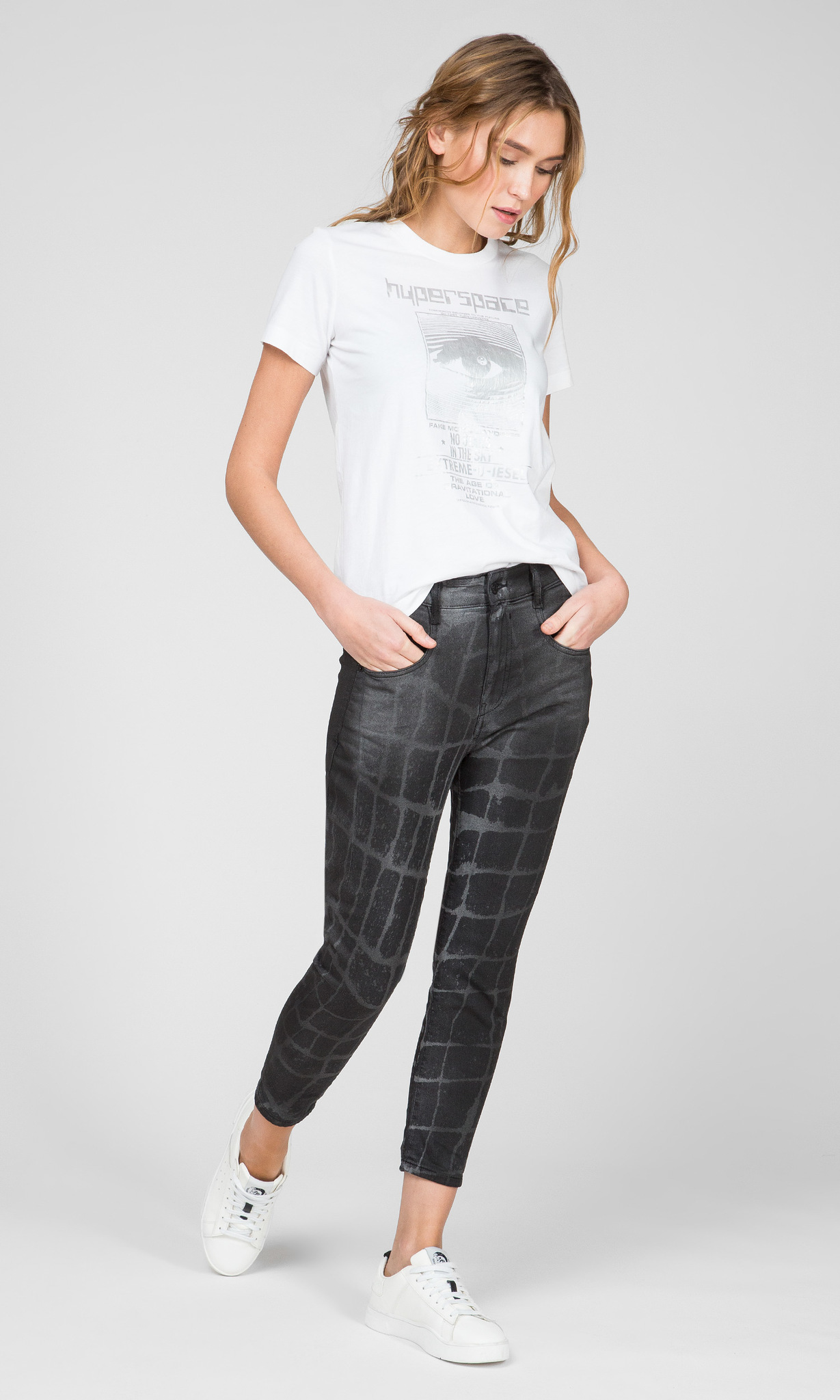 Женские темно-серые джинсы D-FAYZA-SP-NE Diesel