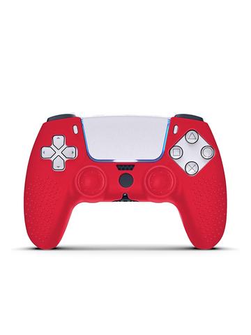 Силиконовая накладка для Dualsense PS5 красного цвета