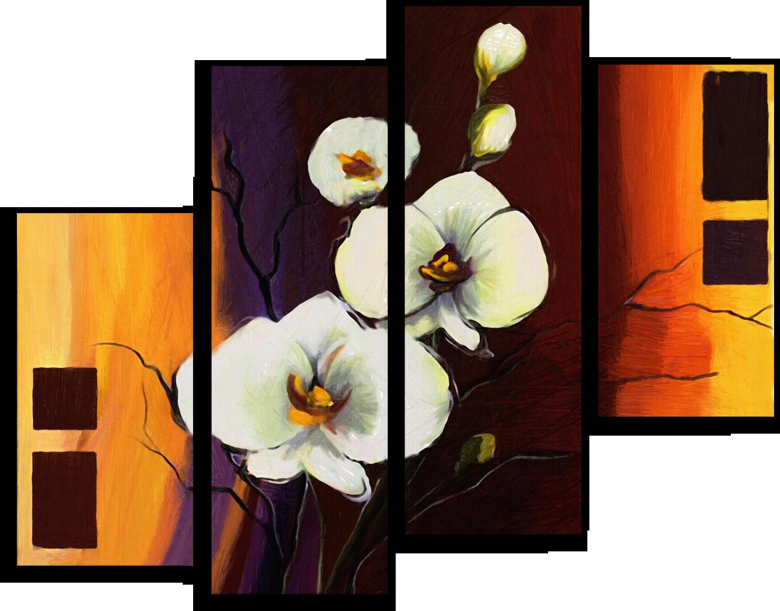 """Модульные картины Модульная картина """"Цветущий цветок"""" М67.png"""