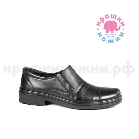 Туфли чёрные школьные, натурал. кожа, Марко