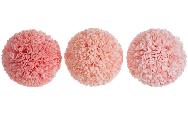 Подвесной цветочный шар коралловый/персик/лососевый в ассортименте гигант