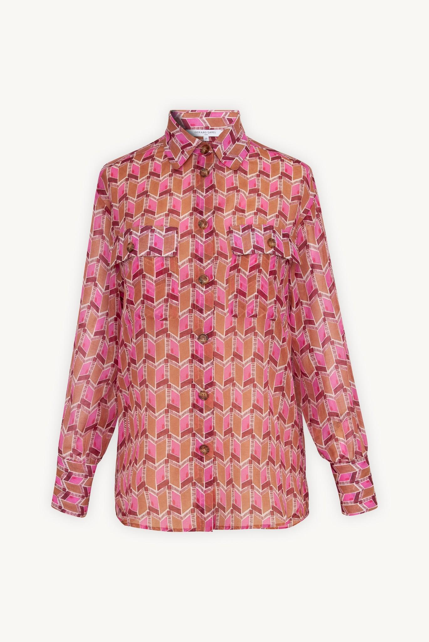 NAIS - рубашка из шелка и хлопка с принтом