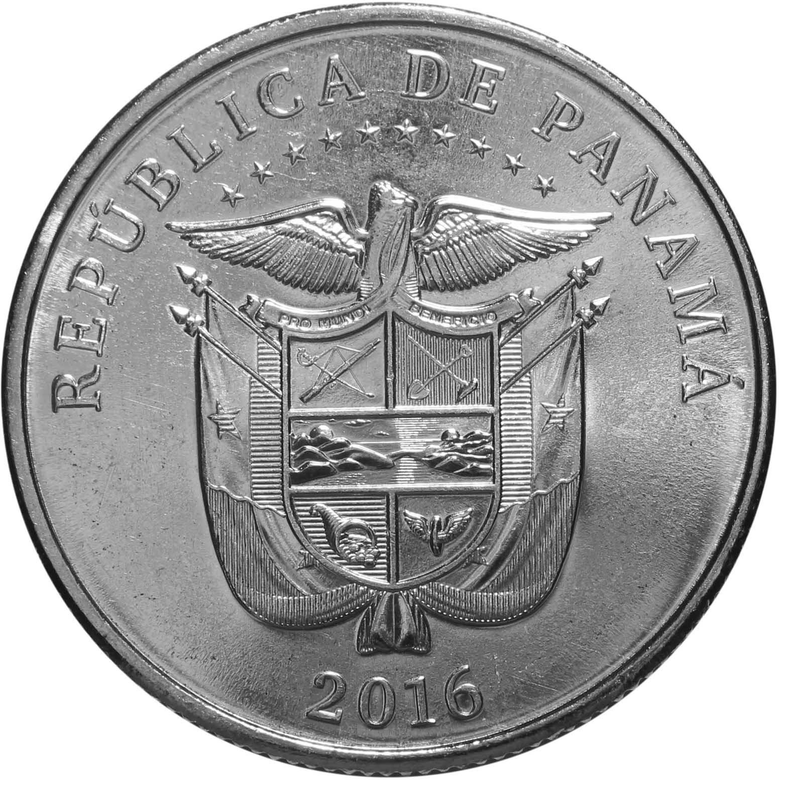 1/4 бальбоа. 100 лет строительству Панамского канала. Век объединяя мир. Панама. 2016 год. UNC