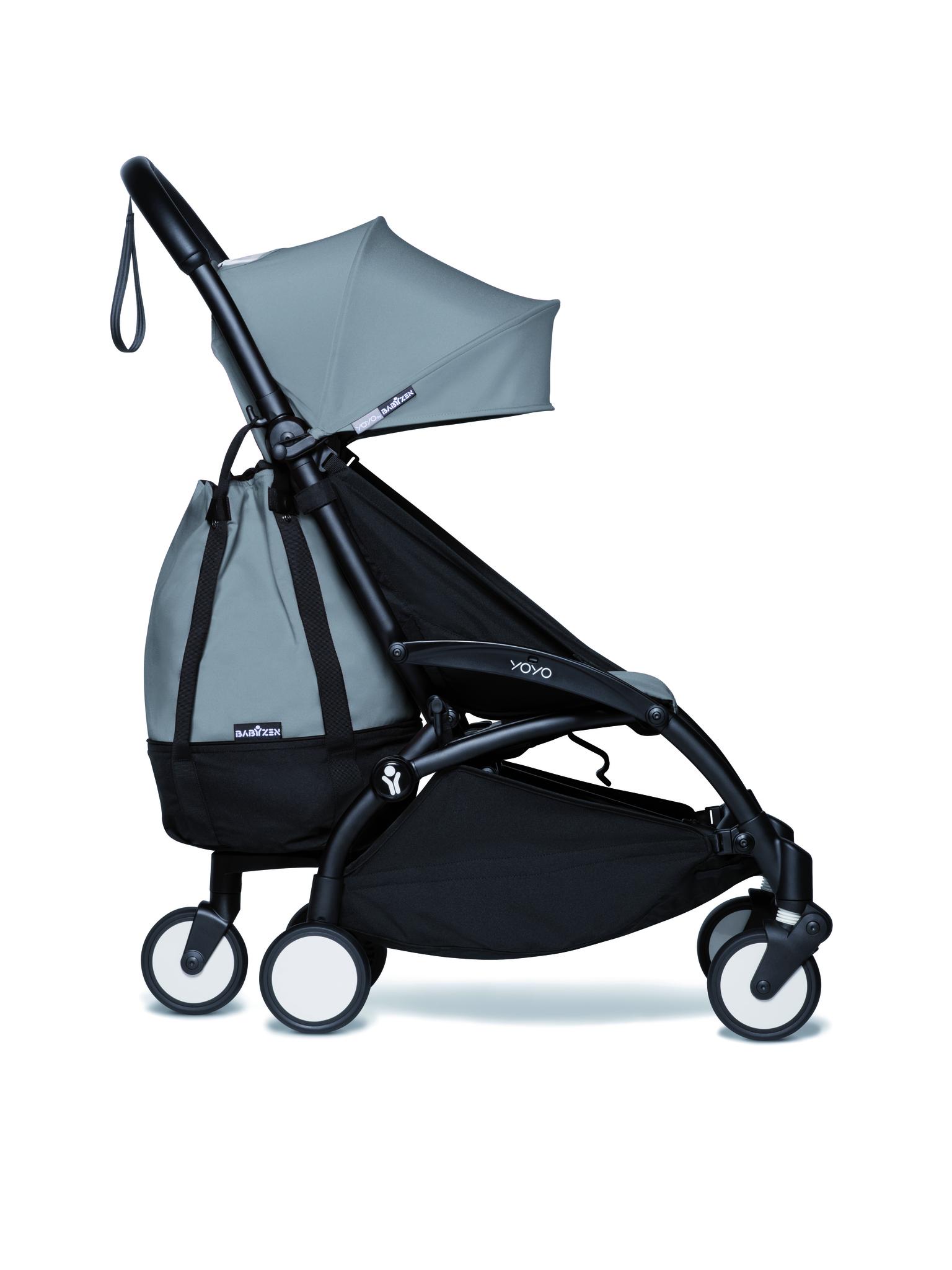 Сумка для коляски BabyZen YOYO+ Bag с колесом платформой Grey Серый