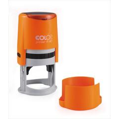 Оснастка для печати круглая Colop Printer R40 Neon 40 мм с крышкой оранжевая