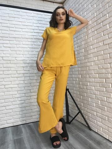 Костюм женский желтый с брюками Nadya