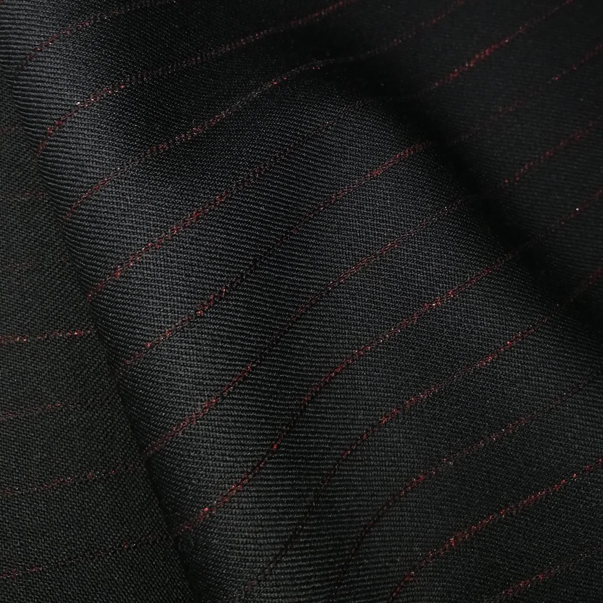 Шерстяная костюмная ткань в мерцающую полоску