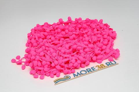 Помпоны ярко-розовые